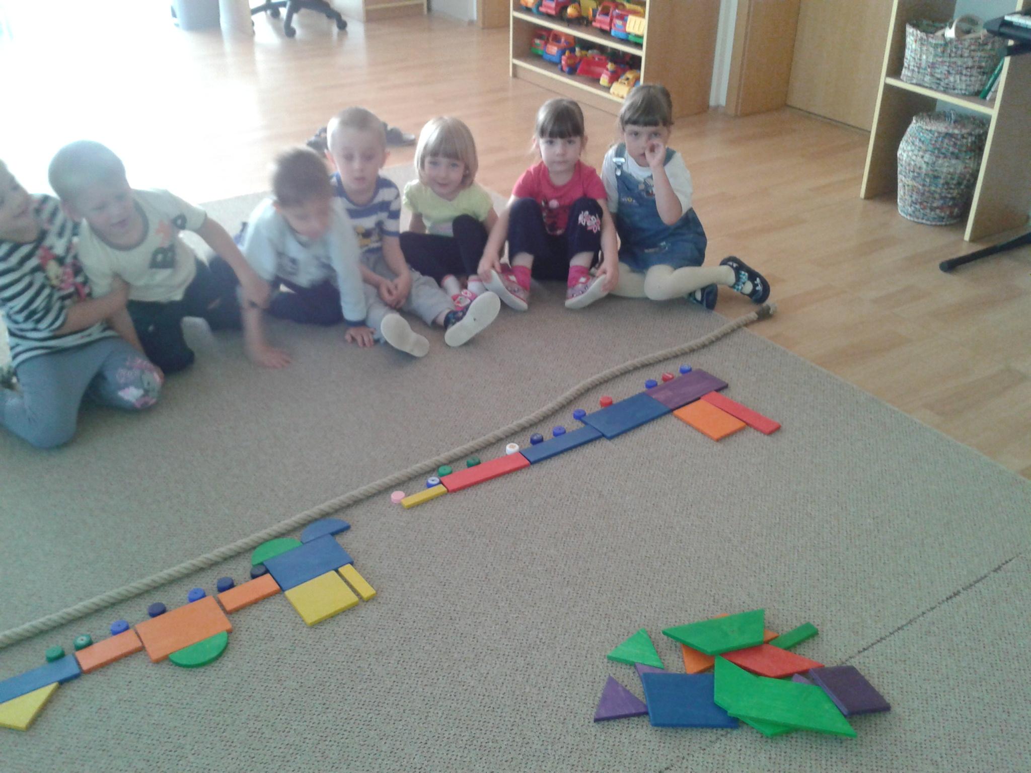 Hra s geometrickými tvary