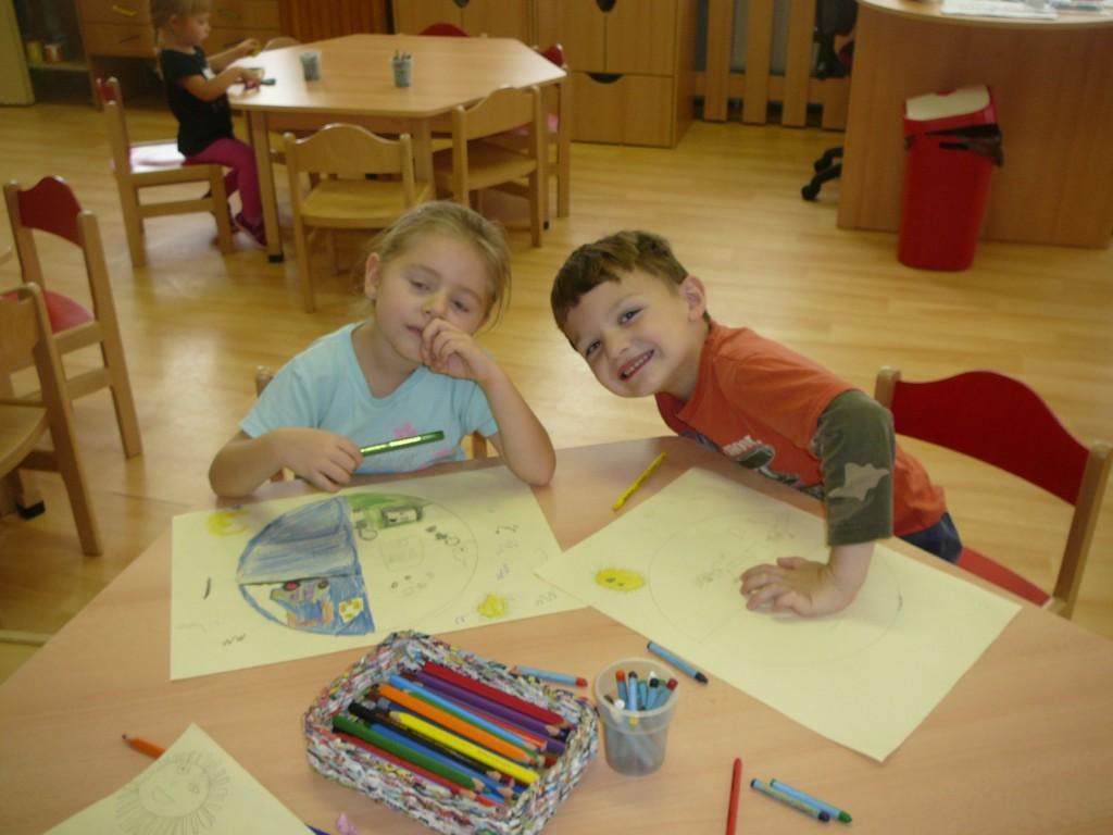 Den a noc - práce předškoláků
